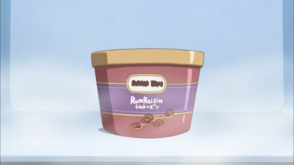 keep cool the rum raisin.. dunno how long it can be exist there, as long as Sakurako were there..