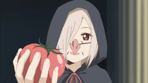 the witches gave her an apple... err no, it's tomato